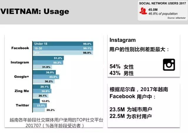 越南社交媒体使用率